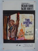 "THIS SPORTING LIFE (1963) - British One Sheet Movie Poster - Renato Fratini artwork - 27"" x 40"" ("