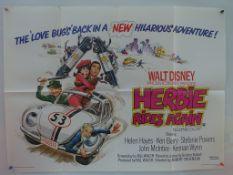 "HERBIE GOES BANANAS & HERBIE RIDES AGAIN (1980's) - 2 x UK Quad Film Posters (30"" x 40"" - 76 x 101.5"