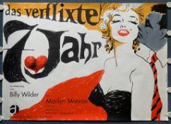 """THE SEVEN YEAR ITCH - """"Das Verflixte 7. Jahr"""" - (1966 Release) - German 2 Sheet A0 film poster -"""