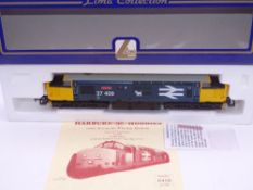 OO GAUGE - A Lima Class 37 diesel locomotive, 37409 Loch Awe, in Large Logo Blue livery w/plates, #