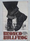 "BRONCO BULLFROG (1970) UK One Sheet Film Poster (27"" x 40"" – 68.5 x 101.5 cm) - Very Good / Near"