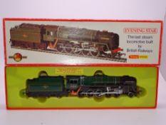 "OO GAUGE - A Hornby R861 class 9F steam locomotive ""Evening Star"". VG in G box"
