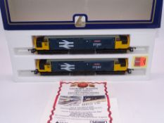 OO GAUGE - A Lima Class 37 diesel locomotive pair, 37261 Caithness & 37262 Dounreay, both in Large