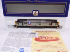 OO GAUGE - A Lima Class 37 diesel locomotive, 37406 The Saltire Society, in Transrail Triple Grey
