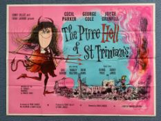THE PURE HELL OF ST. TRINIAN'S (1960) - British UK Quad Film Poster - This was the third film of the