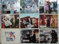 PRESS FOR TIME (1966) - NORMAN WISDOM - Complete set of 8 x British Lobby Cards with original