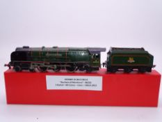 OO GAUGE - A Hornby Dublo EDL12 2 rail Duchess of Montrose steam loco in gloss green. G in