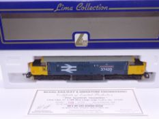 OO GAUGE - A Lima Class 37 diesel locomotive, 37420 The Scottish Hosteller, in Large Logo blue