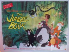 """JUNGLE BOOK (1988 Release) - British UK Quad - Classic WALT DISNEY animated adventure - 30"""" x 40"""" ("""