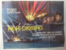 """NIGHT CROSSING (1982) - UK QUAD FILM POSTER - 30"""" x 40"""" (76 x 101.5 cm) - Folded (as issued) -"""