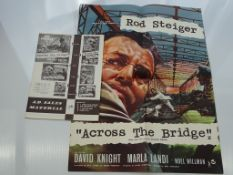 "ACROSS THE BRIDGE (1957) - MOVIE LIFT BILL (22"" x16.5"" - 56cm x 42cm) - contained within ad sales"