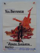 BELGIAN POSTER LOT (2 in Lot) - Belgian film posters to include ADIOS SABATA (1970) + ON M'APPELLE