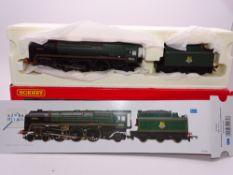 "OO GAUGE - A Hornby R2484 Britannia class steam locomotive ""Boadicea"" in BR green livery, DCC ready."
