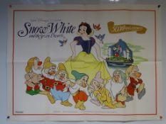 "SNOW WHITE AND THE SEVEN DWARFS (1987 - 50th Anniversary) - UK Quad Film Poster (30"" x 40"" - 76 x"