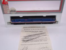 OO GAUGE - A Lima Class 50 diesel locomotive, 50035 Ark Royal, in Network South East livery, #671 of
