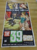 "THE 39 STEPS (1959) - UK Three Sheet (40"" x 81"" approx.) - Near Fine, vertical crease tear to top"