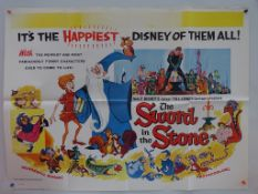 "SWORD IN THE STONE (1976 Release) - UK Quad Film Poster - 30"" x 40"" (76 x 101.5 cm) - Folded (as"