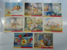"WINNIE THE POOH & THE BLUSTERY DAY (1969 ) - Set of 8 x UK/British Front of House Lobby Cards - 8"" x"