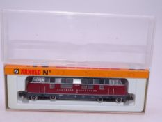 N GAUGE - An Arnold German V 200 diesel locomotive