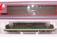 OO GAUGE - A Lima Class 55 Deltic diesel locomotive, D9008 The Green Howards, in BR two tone green