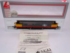 OO GAUGE - A Lima Class 37 diesel locomotive, 37675 William Cookworthy, in Railfreight livery, #