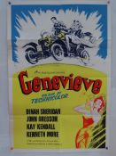 "GENEVIEVE (1953) - UK re-release British One Sheet Movie Poster Design and Art by Eric Pulford(27"" x"