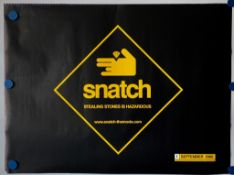 SNATCH (2000) - 2 x British UK Quad Film Posters for the Guy Ritchie film SNATCH - Advance and Final
