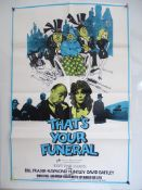BRITISH ONE SHEET JOB LOT x 4 to include THAT'S YOUR FUNERAL (1972) - ONE BRIEF SUMMER (1969) - OVER