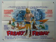 FREAKY FRIDAY (1976) - UK Quad Film Poster - FIRST RELEASE - Classic WALT DISNEY live action