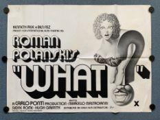 WHAT ? (1972) - British/UK Quad film poster - ROMAN POLANSKI - Truly European Italian/French/West
