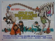 ONE OF OUR DINOSAURS IS MISSING (1975) - UK Quad Film Poster - FIRST RELEASE - Classic WALT DISNEY