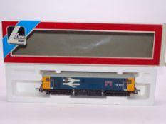 OO GAUGE - A Lima Class 73 electro-diesel locomotive, 73142 Broadlands, in Large logo blue livery.