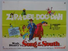 "SONG OF THE SOUTH (1960's/70's Release) Lot x 2 - UK Quad later release Film Poster (30"" x 40"" -"
