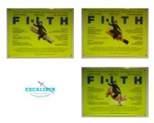 FILTH (2013) - UK QUAD FILM POSTERS - SET OF 3 ALTERNATIVE DESIGNS - Featuring James McAvoy riding a