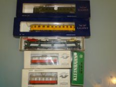 HO GAUGE - Coaches and wagons by Liliput, Fleischm