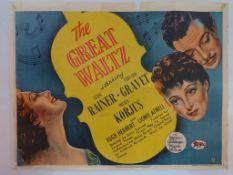THE GREAT WALTZ (1938) - British UK Quad film post
