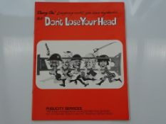 CARRY ON DON'T LOSE YOUR HEAD (1966) - PRESS CAMPAIGN BOOK - Flat/Unfolded - Very Fine