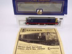 OO GAUGE - A Lima Class 20 diesel locomotive, 20901, in DRS blue livery w/Kosovo Train for Life