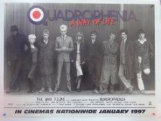 """QUADROPHENIA (1979) - 1997 - Re-Release - UK Quad Film Poster (30"""" x 40"""" - 76 x 101.5 cm) Country of"""