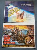WALT DISNEY LOT (1970's) - (6 in Lot) - British UK Quad film posters - To include SWISS FAMILY