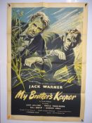 """MY BROTHER'S KEEPER (1948) - artwork by Pullford - UK One Sheet Movie Poster - 27"""" x 40"""" (68.5 x"""