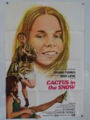 """CACTUS IN THE SNOW (1971) - UK/International One Sheet Movie Poster - (27"""" x 40"""" - 68.5 x 101.5"""