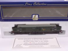 OO GAUGE - A Lima Class 37 diesel locomotive, D6999, in BR green livery, #66 of 550 (MR&ME) E in