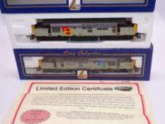 OO GAUGE - A Lima Class 37 diesel locomotive pair, 37423 Sir Murray Morrison, in Distribution sector