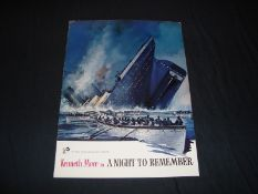 A NIGHT TO REMEMBER (1958) - Press Campaign Book - Flat/Unfolded