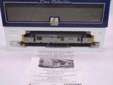 OO GAUGE - A Lima Class 37 diesel locomotive, 37402 Bont-Y-Bermo, in Triple grey livery, #307 of 550