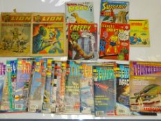 A LARGE QUANTITY OF MIXED 60S - 90S ENGLISH COMICS as lotted circa 25
