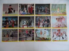 MARY POPPINS (1964) - Complete set of 12 x British Front of House Lobby Cards - RARE SET - Flat/
