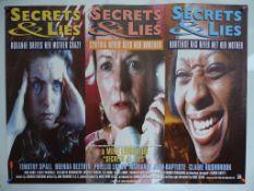 "SECRETS & LIES (1996) - British UK Quad for this AWARD WINNING MIKE LEIGH FILM - 30"" x 40"" (76x"