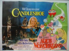 WALT DISNEY UK QUAD LOT (1970's) - (2 in Lot) British UK Quad film posters to include CANDLESHOE &